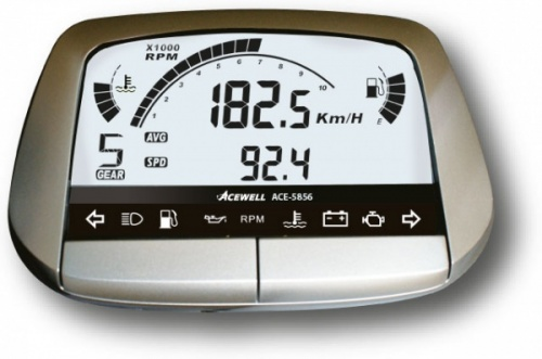 Acewell ACE-5856 Speedo Rev Gauge