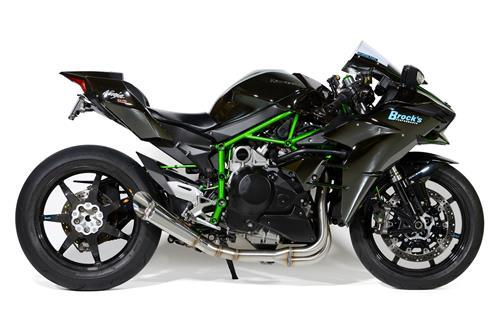 Kawasaki Ninja H2 15-06 Brock's 13'' Slash Cut Full System