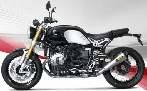 BMW R Nine T 2014 Akrapovic Hexagonal Exhaust - Low Option