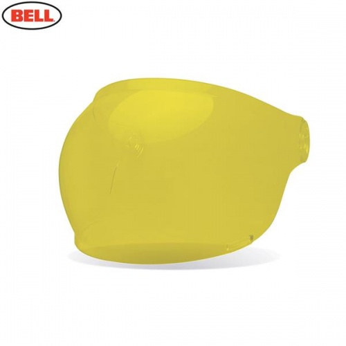 Bell Replacement Bullitt Bubble Shield (Brown Tabs) Yellow