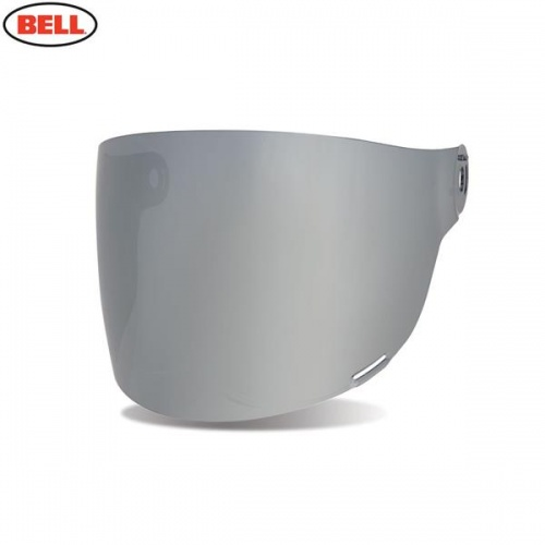 Bell Replacement Bullitt Flat Shield (Brown Tabs) Dark Silver Iridium