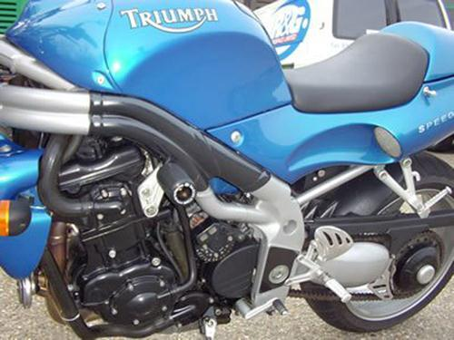 Crash Protectors MID ENGINE - Triumph Speed Triple '97-'07