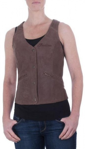 Indian Motorcycle Vest Brown - Ladies