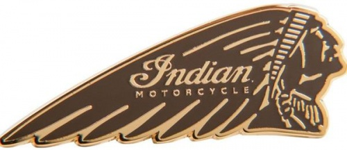 Indian Motorcycle Brown Warbonnet Pin Badge