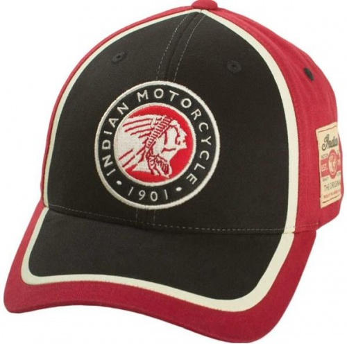 Indian Motorcycle Circle Patch Hat - Red / Black