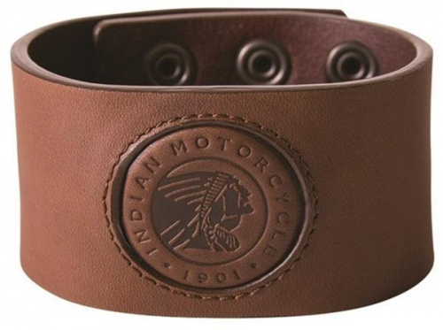 Indian Motorcycle Leather Snap Cuff