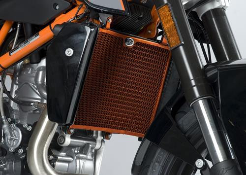 Radiator Guard ORANGE - KTM 690 Duke '12 / 690 Duke R '13-