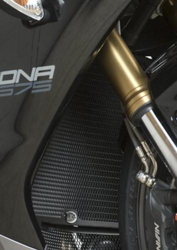 Radiator Guard BLACK - Triumph 675 Daytona '13-