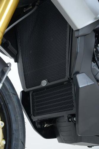 Radiator & Oil Cooler Guard, BLACK - Aprilia Caponord 1200