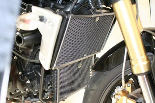 Radiator & Oil Cooler Guard Set BLACK - Suzuki GSXR 1000 K7-K8