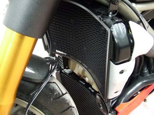 Radiator & Oil Cooler Guard Set BLACK - Ducati 1098 Streetfighter '09-