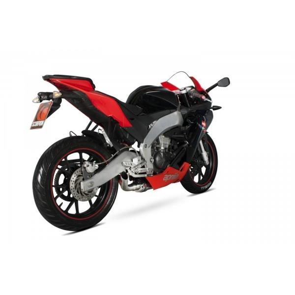 underbelly scorpion exhaust for 2011 2017 aprilia rs4 125. Black Bedroom Furniture Sets. Home Design Ideas