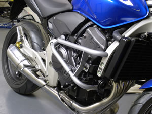 Honda CB600 Hornet 2007+ Black Renntec Engine Crash Bars