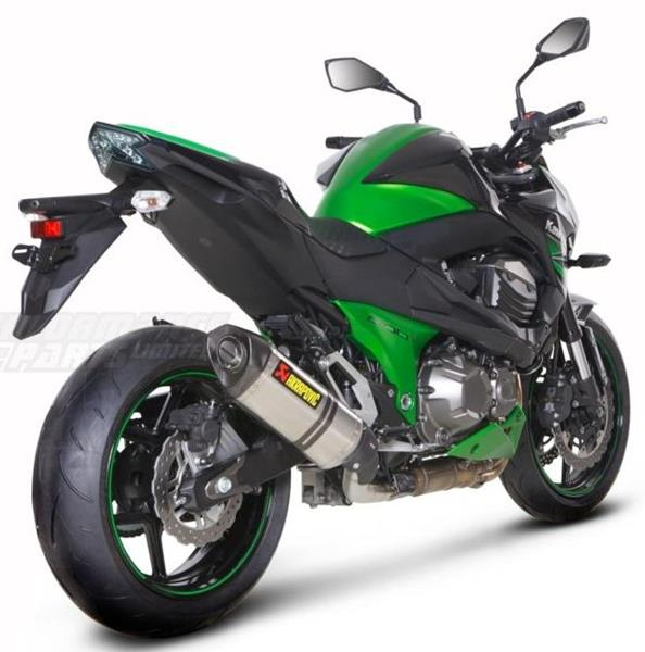 kawasaki z800 not e model 13 14 akrapovic hexagonal exhaust. Black Bedroom Furniture Sets. Home Design Ideas