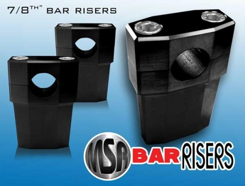 Billet 7/8'' Motorcycle Bar Risers - Black