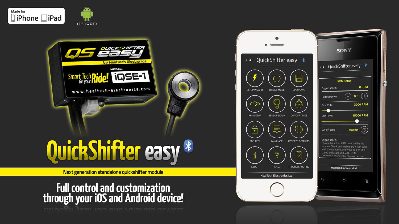 Healtech Quickshifter Easy - Standalone Module - Smartphone Ready