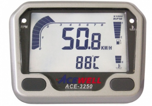 Acewell ACE-3254 Speedometer, RPM, Temp, Fuel, Volts