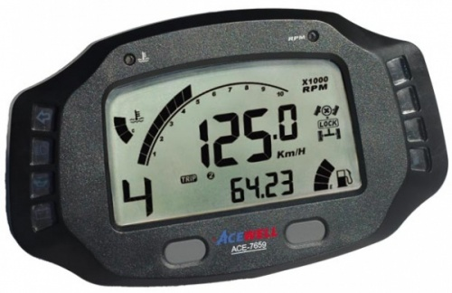 Acewell ACE-7859 The Ultimate Digidash Speedometer with Lap Timer