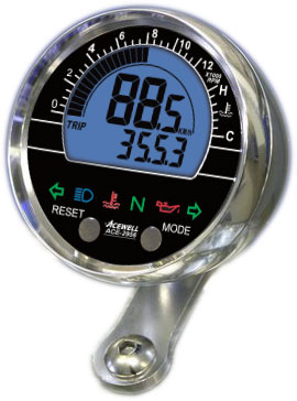Acewell ACE-2956 Speedometer with Tachometer & Temperature