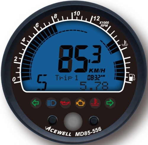 Acewell ACE-MD85-556 85mm Digital Speedometer