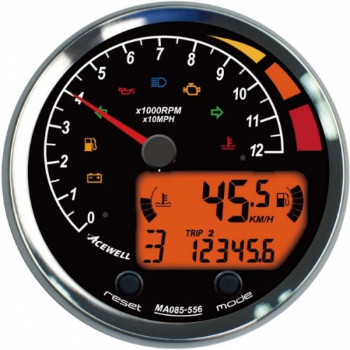 Acewell ACE-MA85 85mm Diameter Analogue & Digital Gauge