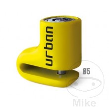 Motorcycle Security Disc Lock 5mm Pin in Yellow