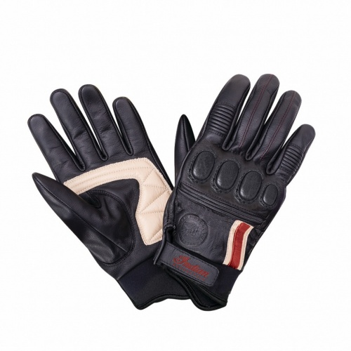 Men's Leather Retro 2 Riding Gloves Black