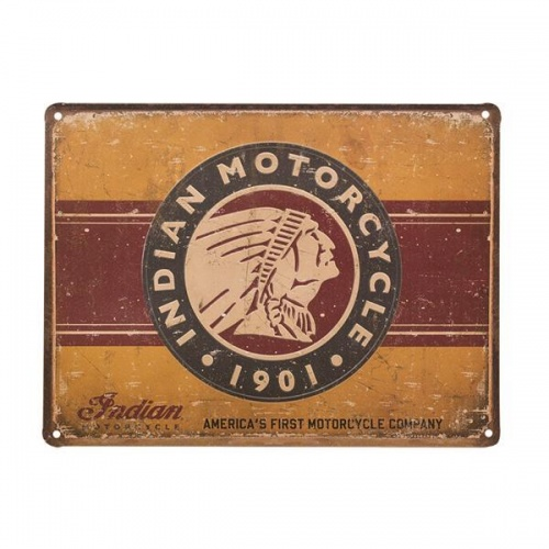 Indian Motorcycle 'First Motorcycle' Metal Decorative Garage Sign