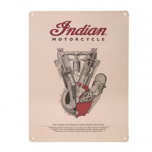 Indian Motorcycle 1914 Engine Garage Decorative Sign