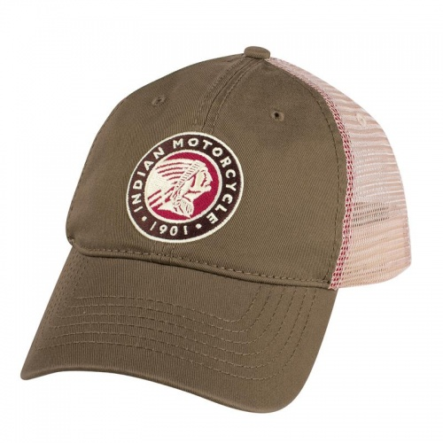 Indian Motorcycle Circle Icon Trucker Hat