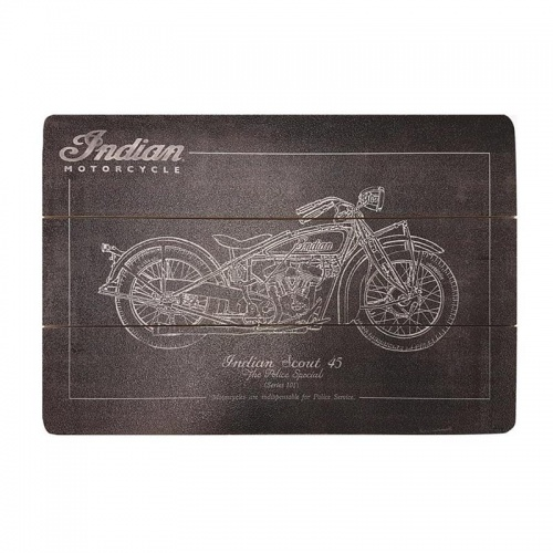 Indian Motorcycle Garage Decorative Wooden Chalk Sign