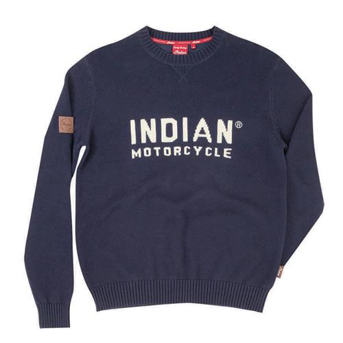 Indian Motorcycle Men's Pull Over Knit Sweater with Block Logo