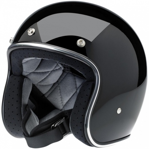 Biltwell Bonanza Open Face Helmet - Gloss Black