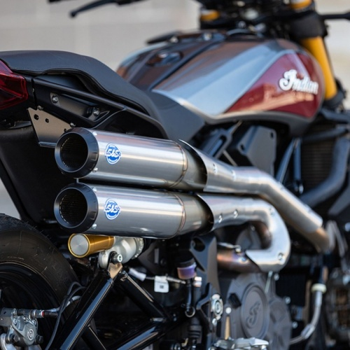 Indian FTR1200 S&S Cycle 2-2 Grand National Flat Track Racer Full Exhaust System