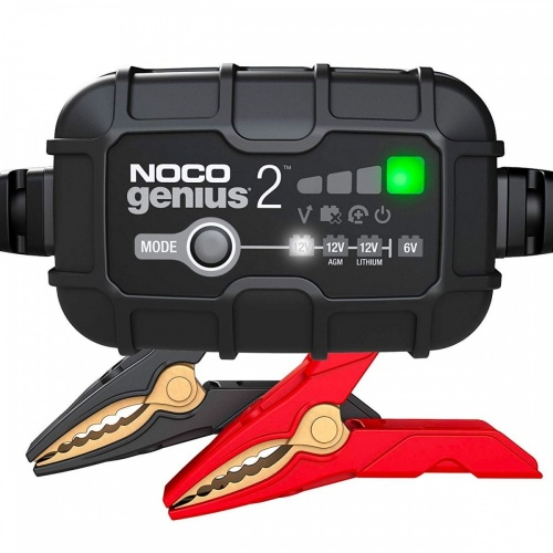Noco Genius 2 UK 2 AMP Motorcycle Battery Charger 6V 12V Lead Acid & Lithium