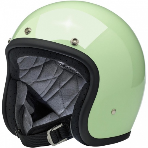 Biltwell Bonanza Open Face Helmet - Gloss Mint Green