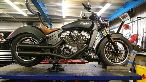Indian Scout Genuine Exhausts (Shortened) Black