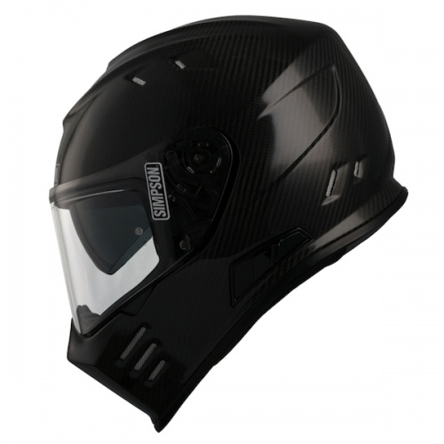 Simpson Venom ECE Motorcycle Crash Helmet  Carbon Fibre