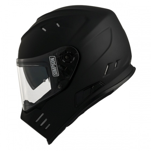 Simpson Venom ECE Motorcycle Crash Helmet Matt Black