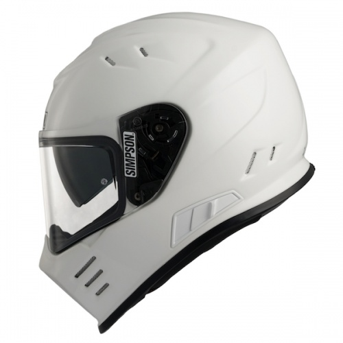 Simpson Venom ECE Motorcycle Crash Helmet Gloss White