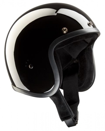 Bandit Jet Motorcycle Helmet - Gloss Black