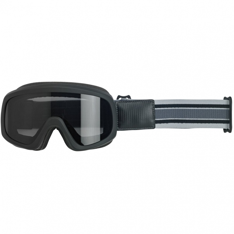 Biltwell Overland 2.0 Racer Goggles Black and Grey