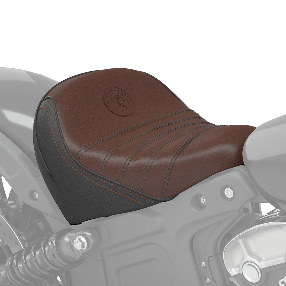 Indian Scout Bobber Comfort Rider Seat Brown Leather