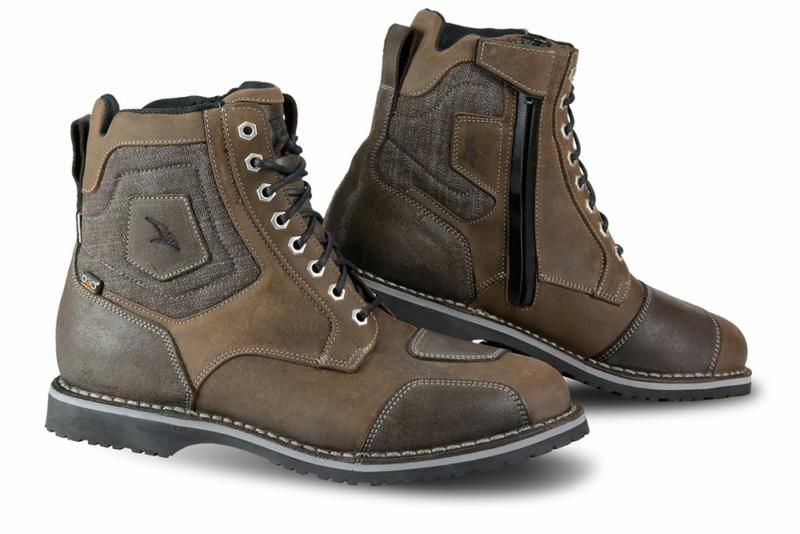 Falco Ranger Casual Motorcycle Boots Dark Brown