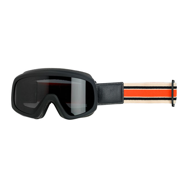 Biltwell Overland 2.0 Racer Goggle in Black with Orange Strap