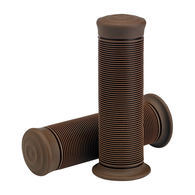 Biltwell Kung FU TPV Grips Chocolate - For 7/8 22mm Motorcycle Handlebars