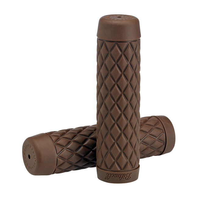 Biltwell Torker TPV Grips Chocolate - For 7/8 22mm Inch Motorcycle Handlebars