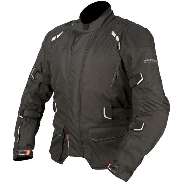 ARMR Moto Kumaji Waterproof Textile Motorcycle Jacket Black