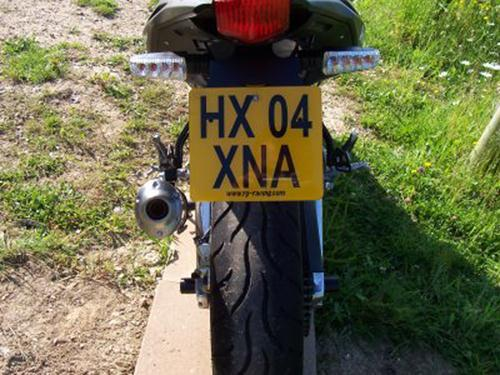Licence Plate Holder, Aprilia RS 125 '06-  (for '10- bikes, can only use micro indicators)