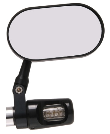 Oberon Performance Oblong Mirror With Bar End Indicators